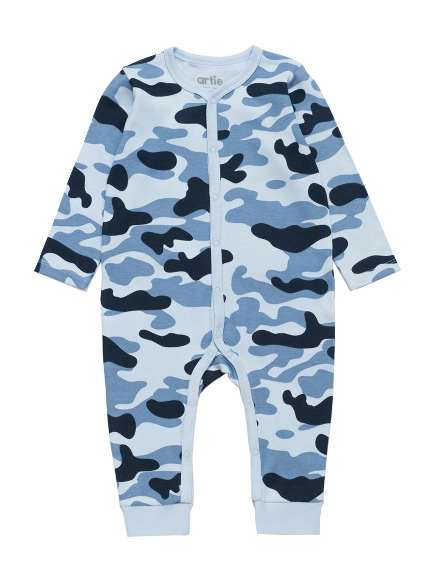 Artie - Camouflage Patterned Baby Sleepsuit - Stylemykid.com