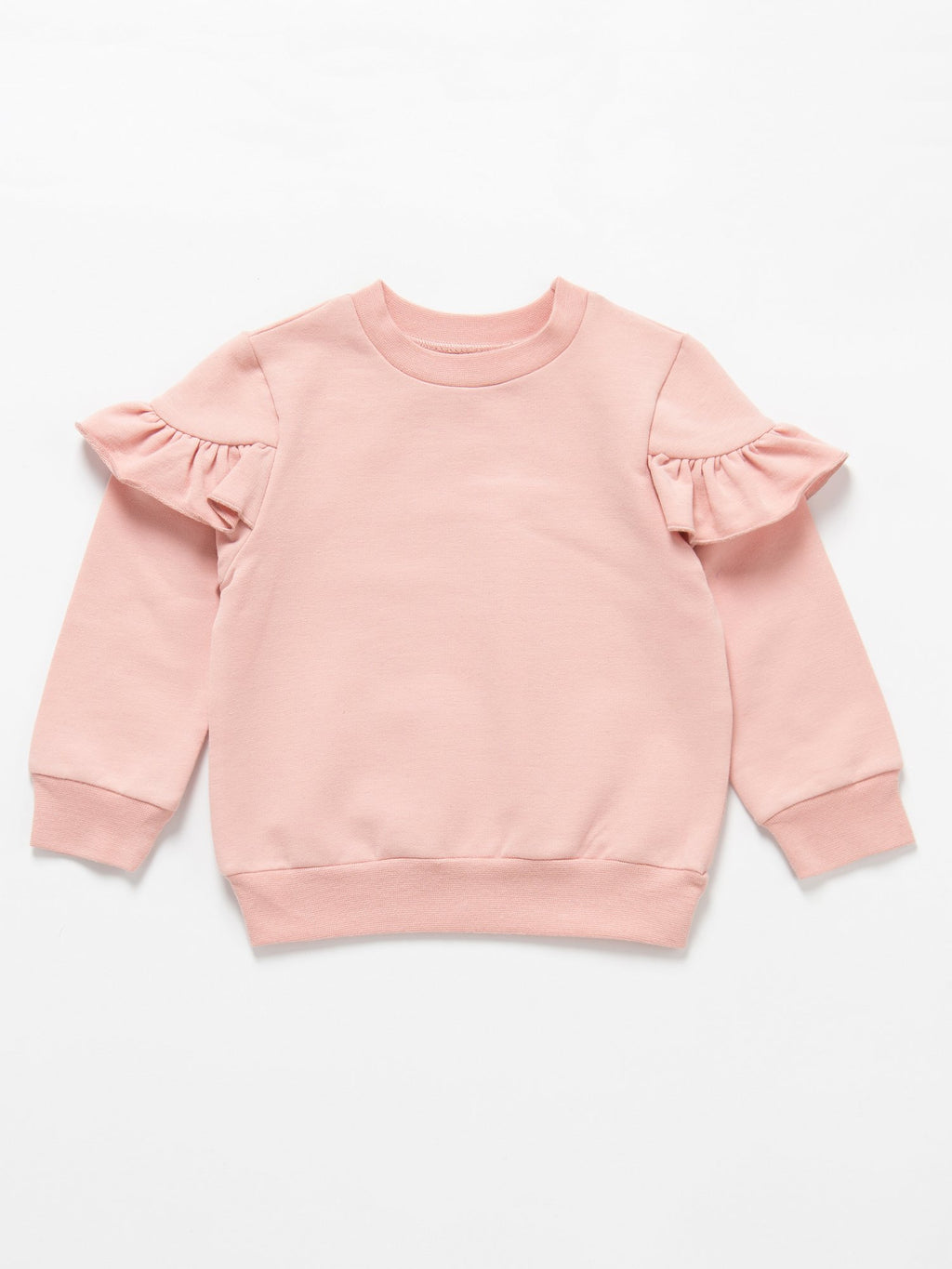 Girls French Terry Pink Long Sleeve Top - Stylemykid.com