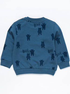 Artie - Bear Boo! Adventure Time Boys Blue French Terry Sweatshirt - Stylemykid.com
