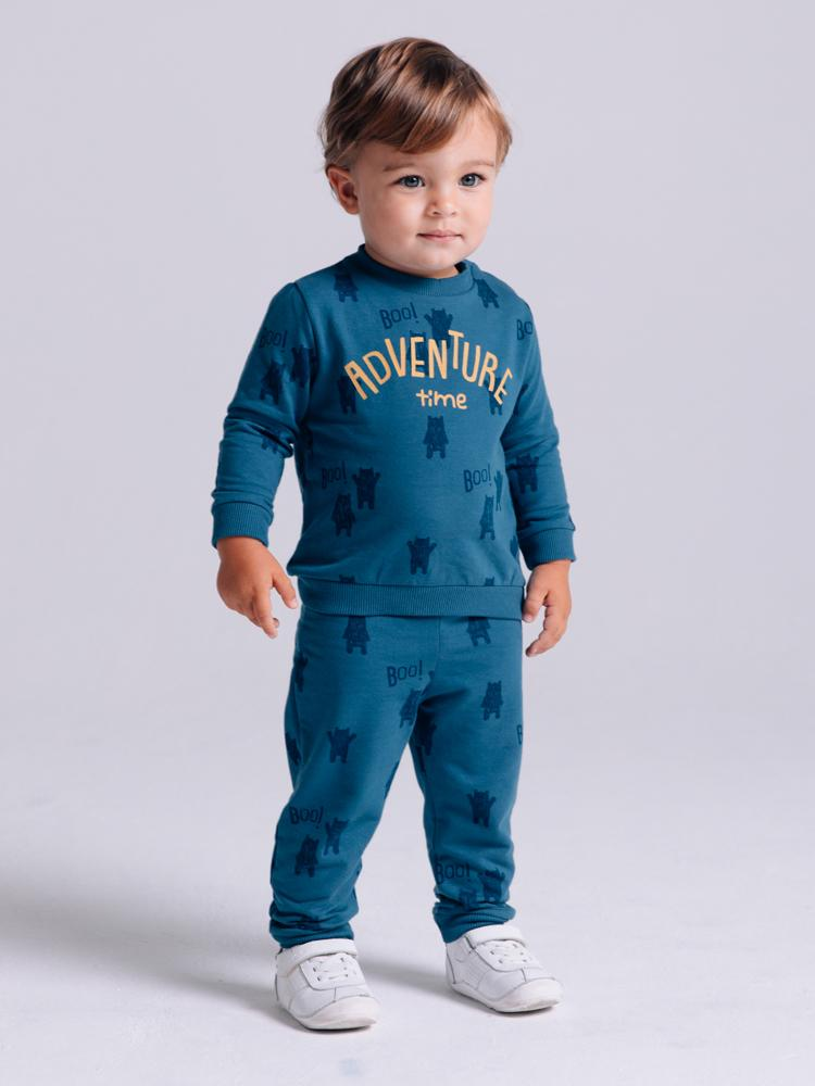 Artie - Boys Blue French Terry Joggers - Stylemykid.com