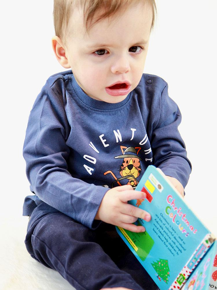 Adventure Tiger Top - Blue Tiger Sweatshirt - Unisex 0 - 24 months - Stylemykid.com