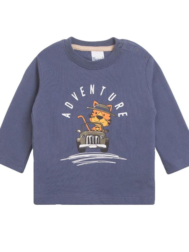 Adventure Tiger Top - Blue Tiger Sweatshirt - Stylemykid.com