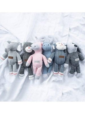 Juddlies - Baby Soft Toy Rattle Comforter - Organic Graphite Grey/Black Dog - Raglan Collection - Stylemykid.com