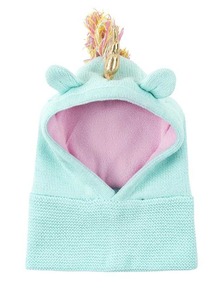Zoocchini - Kids Knit Balaclava Hat - Allie The Alicorn 1-2Y - Stylemykid.com