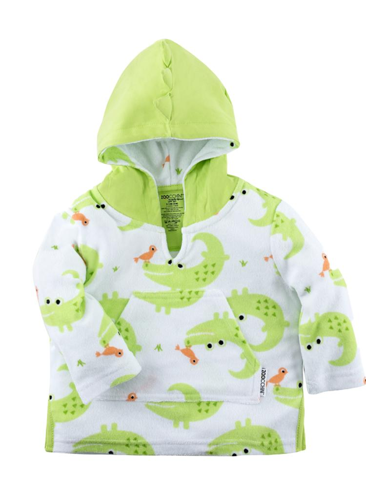 Zoocchini - Terry Bath & Swim Cover up with Character Hood - Aiden the Alligator - Stylemykid.com