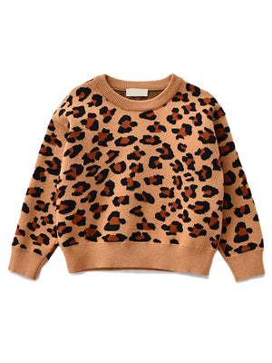 Animal Power Girls Tan & Black Animal Print Jumper - African Leopard Tan - Stylemykid.com