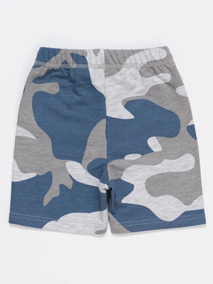 Blue & Grey Camo French Terry Baby and Boy Shorts - Stylemykid.com