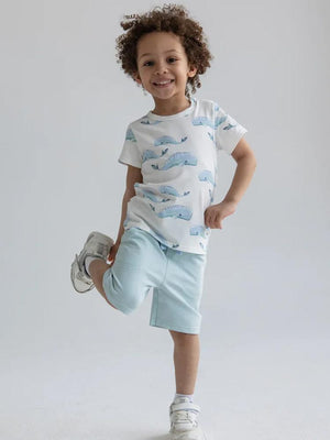Artie - Whale Patterned Baby and Little Kids T Shirt - Stylemykid.com
