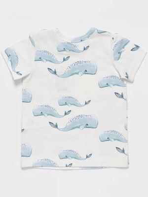 Whale Patterned Baby and Little Kids T Shirt - Stylemykid.com
