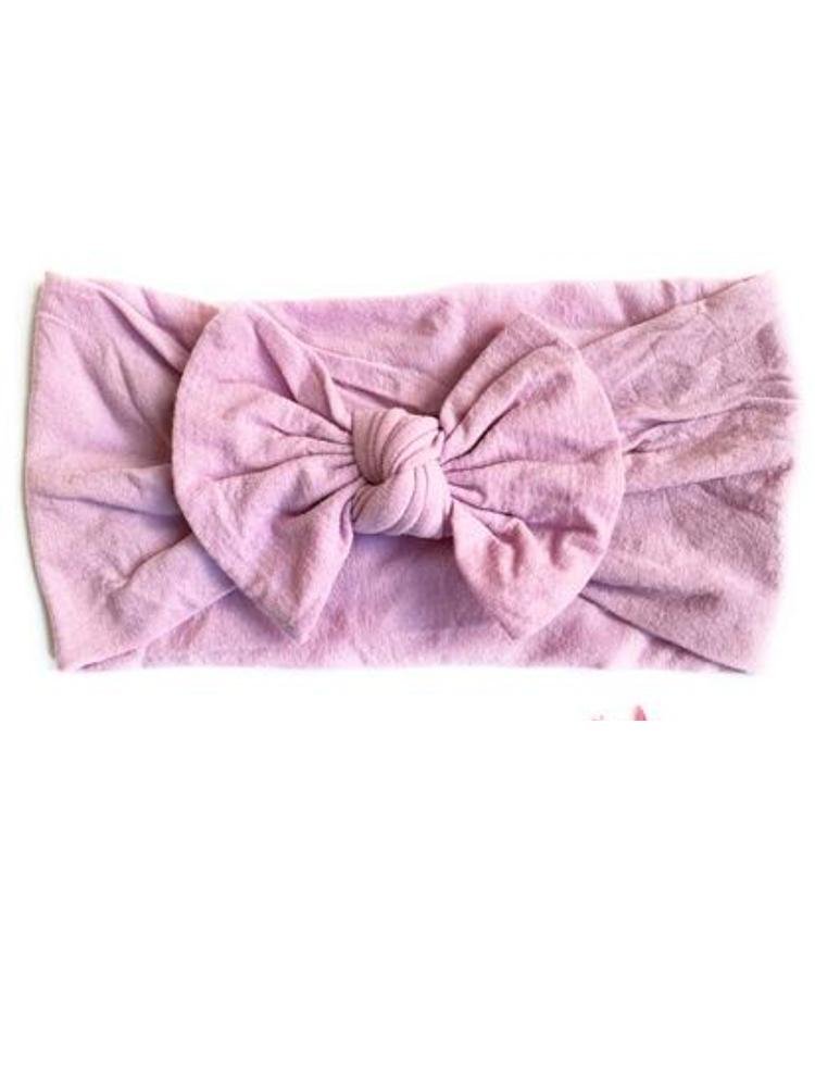 Baby Wisp - Baby & Little Girls Large Bow Headband - Mauve - Stylemykid.com