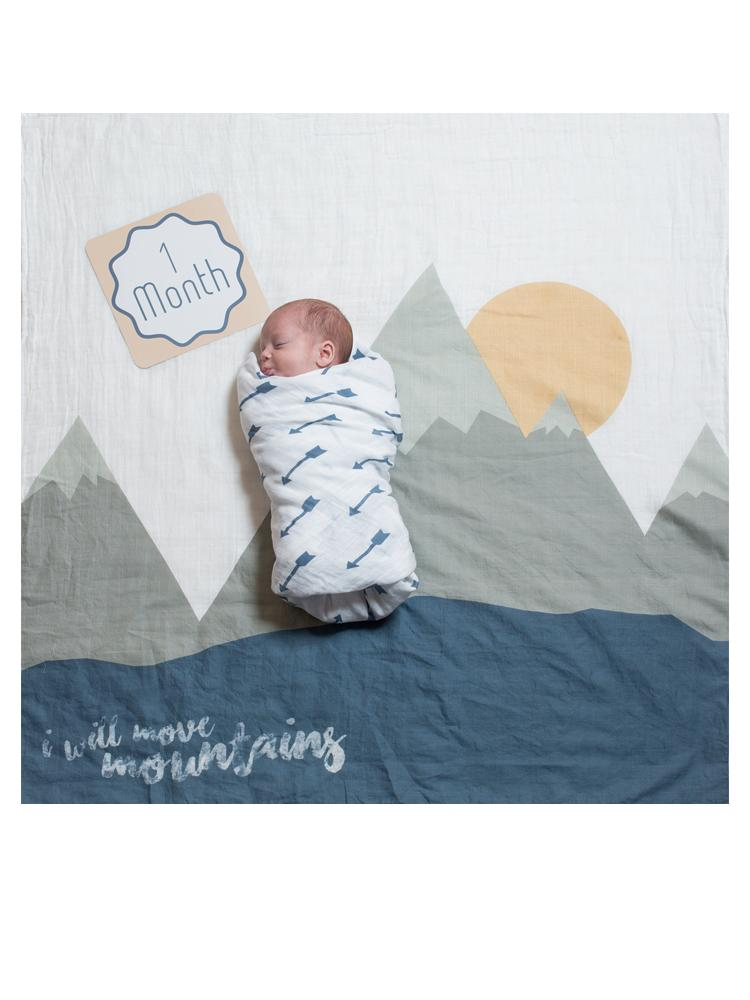 Lulujo - Baby's 1st Year - I Will Move Mountains - Blanket & Milestone Cards Set - Stylemykid.com