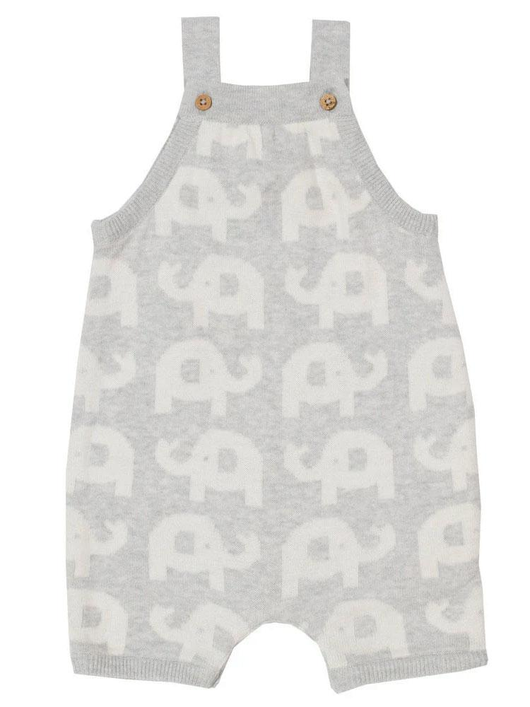 Little Ellie Knit - Organic Grey Knitted Outfit with Elephant Design - Stylemykid.com