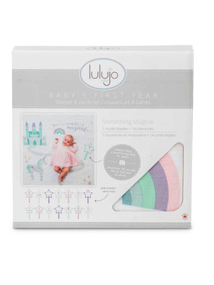 Lulujo - Baby's 1st Year - Something Magical - Blanket & Milestone Cards Set - Stylemykid.com