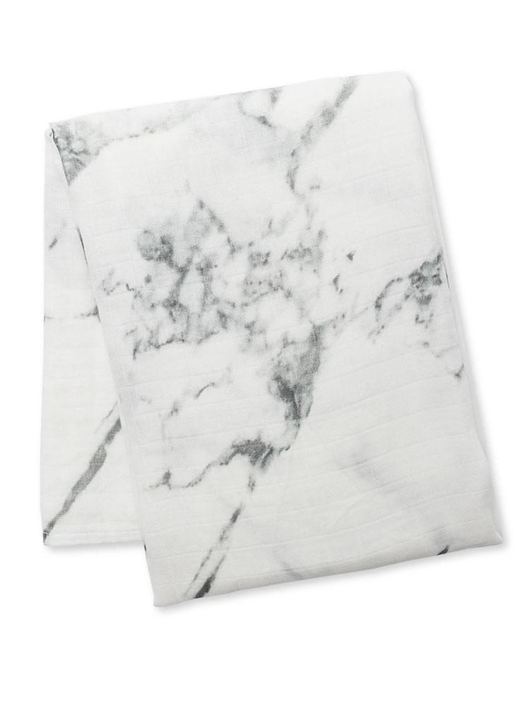 Lulujo - Bamboo Newborn Swaddle Blanket for Babies - Marble - Stylemykid.com