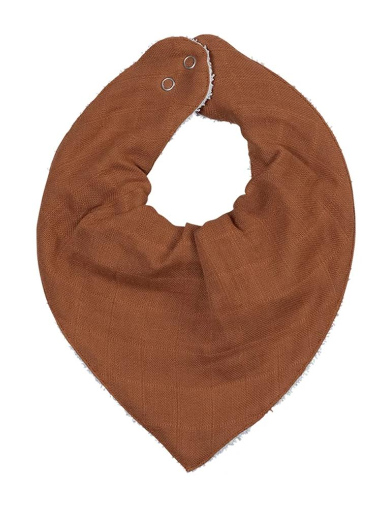 Fabelab - Organic Large Bandana Bib with Terry Backing - Cinnamon - Stylemykid.com