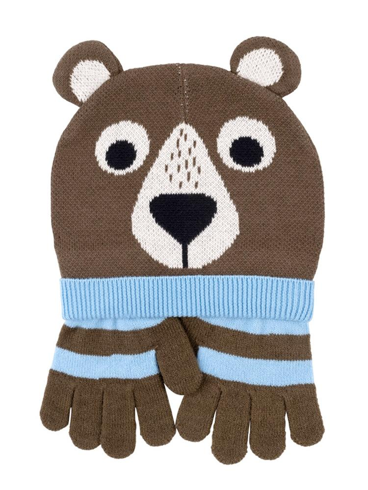 Zoocchini - Kids Winter Hat/Gloves Sets - Bosley the Bear - Stylemykid.com
