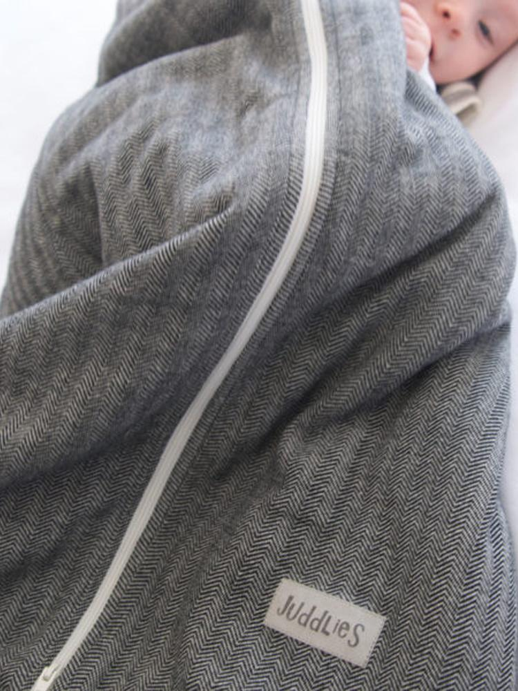 Juddlies - Dream Sack Baby Sleeping Bag - Driftwood Grey - Organic Cottage Collection - Stylemykid.com