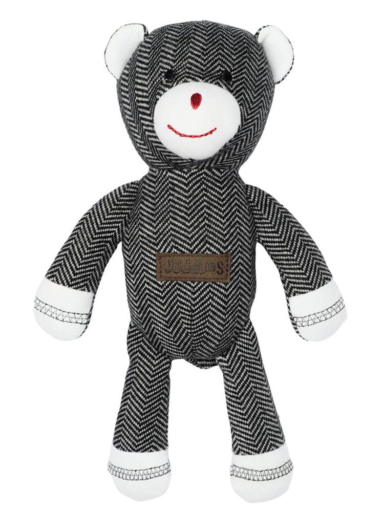 Juddlies - Baby Soft Toy Rattle Comforter - Organic Bear Black - Cottage Collection - Stylemykid.com