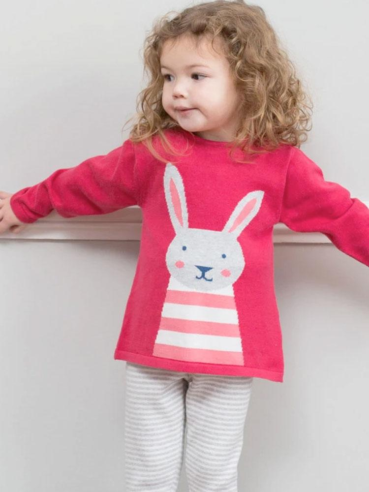 Beautiful Organic Bunny Knit Set - KITE - Stylemykid.com