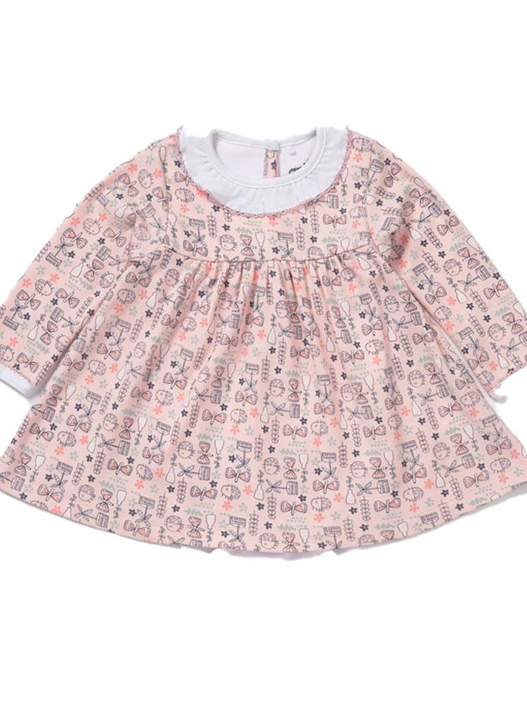 Artie - Busy Butterfly Dress - Pink Patterned Girls Dress - Stylemykid.com