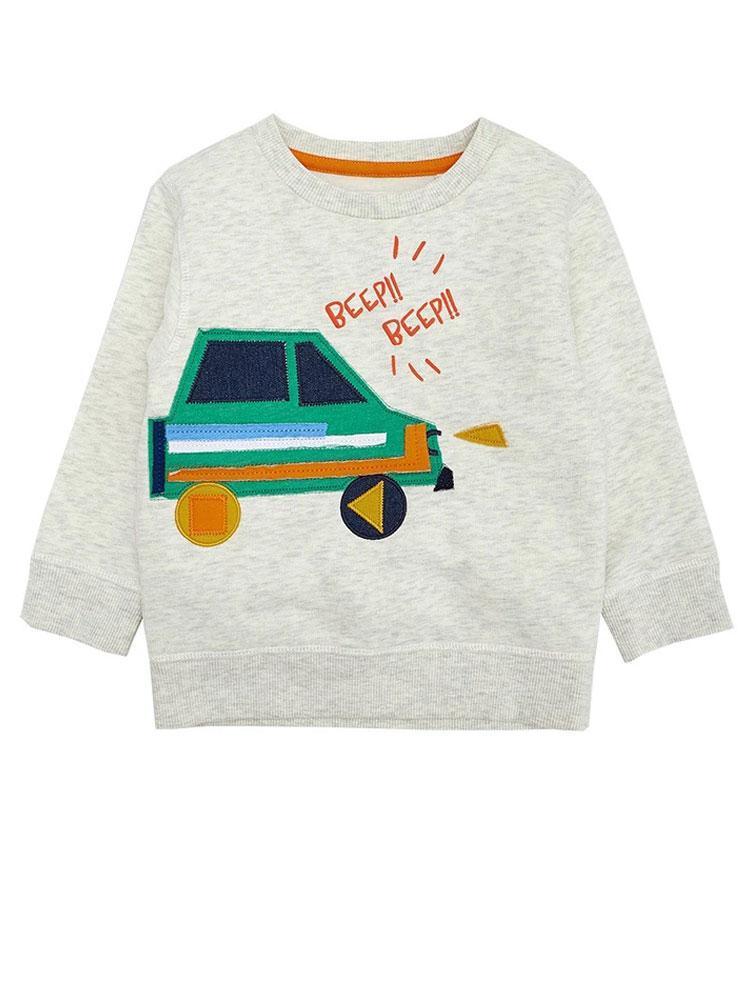 Beep Beep Boys Jumper with Car Design - Stylemykid.com