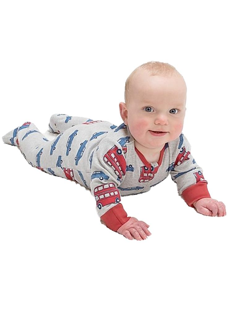 KITE Beep Beep Zippy Organic Baby Multicoloured Sleepsuit - Stylemykid.com