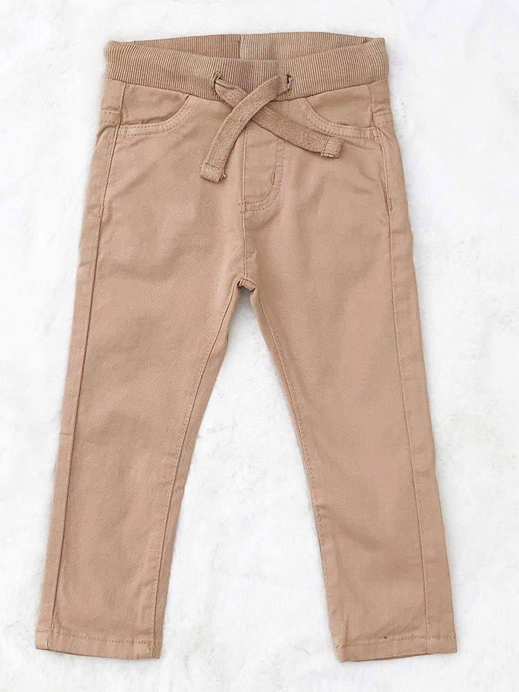Babybol - Kids Beige Soft Jeans - Pull Up Style for 1 - 6 Years - Stylemykid.com