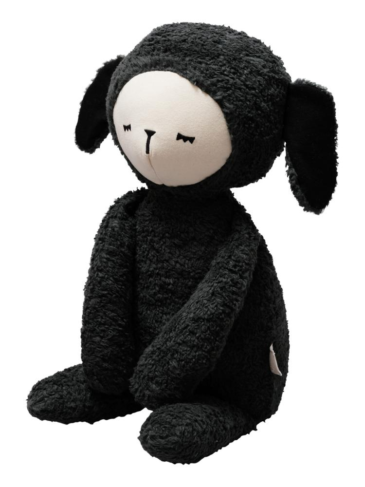 Fabelab - Big Buddy - Extra Large Huggable Organic Black Sheep 54cm! - Stylemykid.com