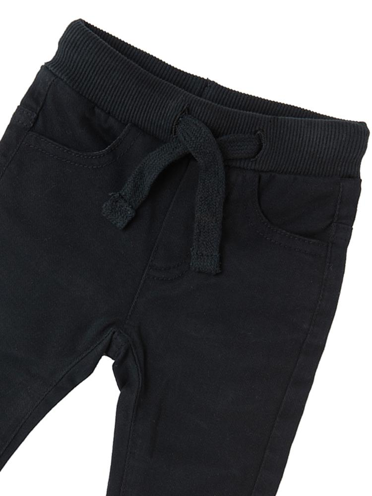 Babybol - Kids Black Soft Jeans - Pull up style for 1 - 6 Years - Stylemykid.com