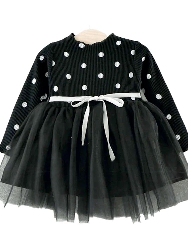 Black Girls Polka Dot Tutu Party Dress - Stylemykid.com