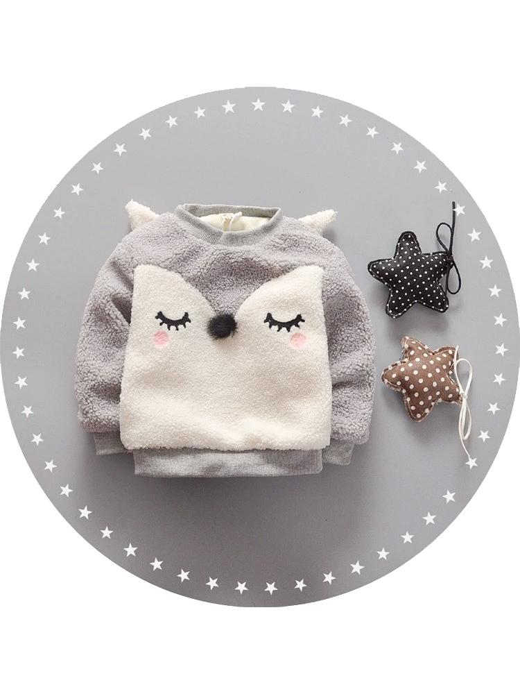 Blushing Fox - Grey Fluffy Fleece Lined Fox Face Jumper - Stylemykid.com
