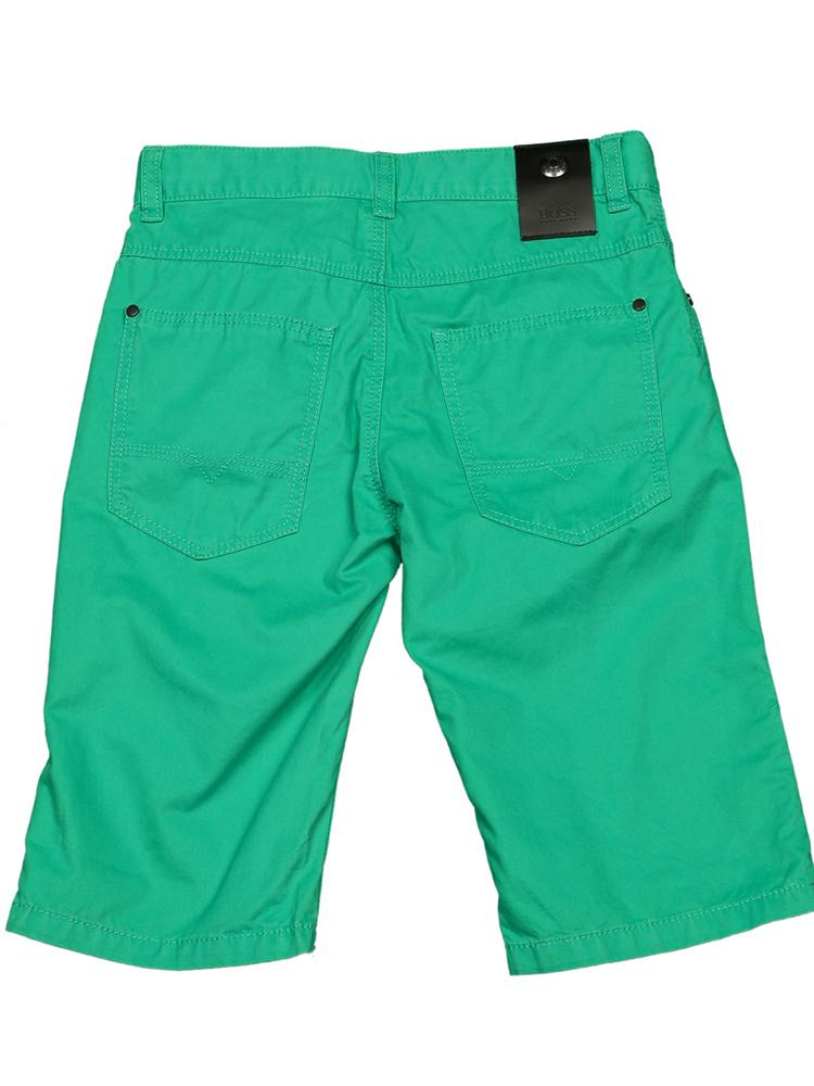 HUGO BOSS - Boys Green Bermuda Shorts - Stylemykid.com