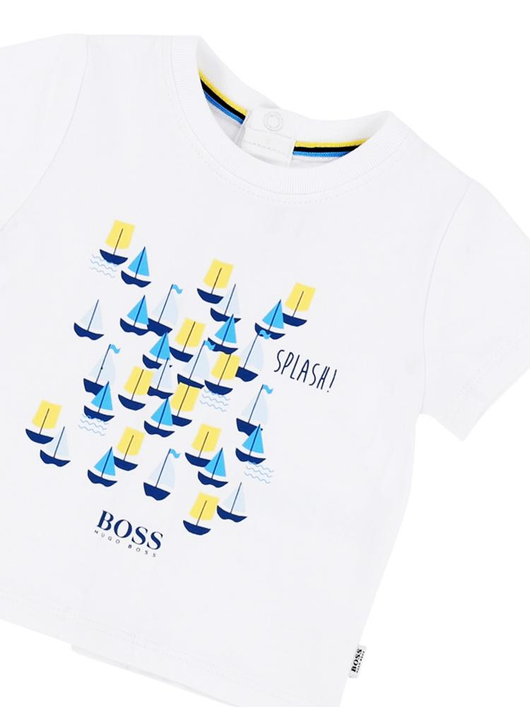 HUGO BOSS - Boys Splash Boat 100% Cotton T-Shirt - Stylemykid.com