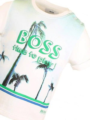HUGO BOSS - Boys Time To Play 100% Cotton T-SHIRT - Stylemykid.com