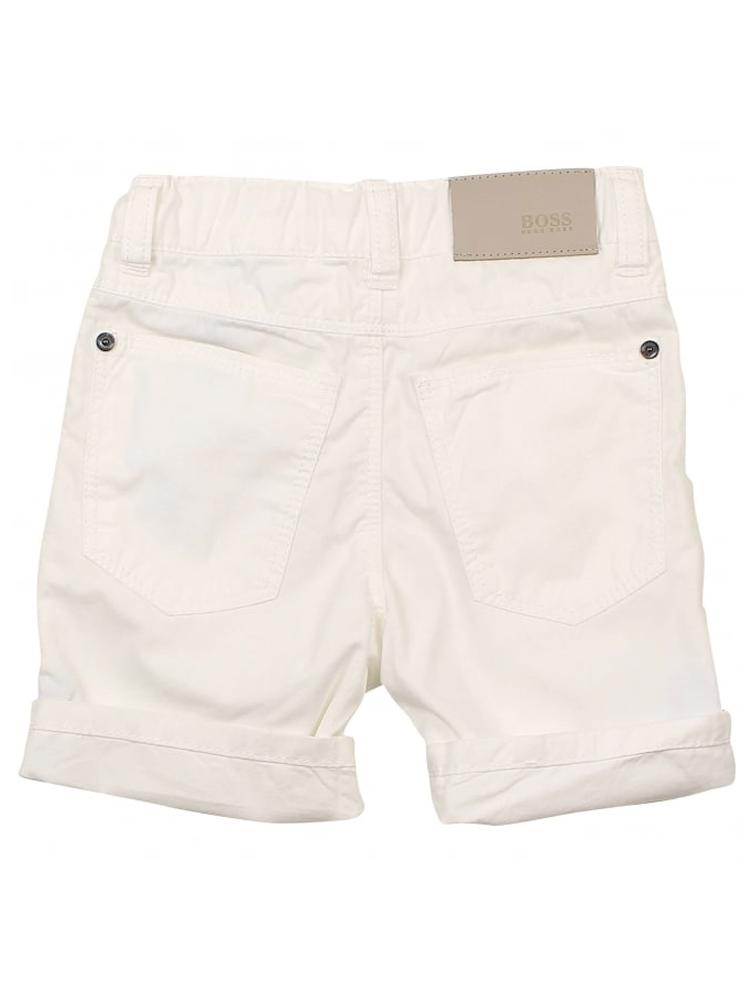 HUGO BOSS - Boys White Bermuda Shorts - Stylemykid.com