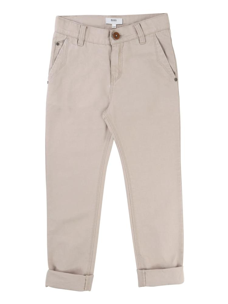 HUGO BOSS - Boys Light Khaki Trousers - Stylemykid.com