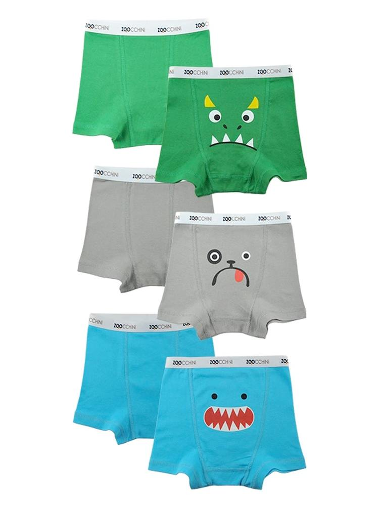 Zoocchini - Boys Organic Cotton Boxer Shorts - Monster Mash  -  3 Pack Shark/ Monster/ Puppy - Stylemykid.com