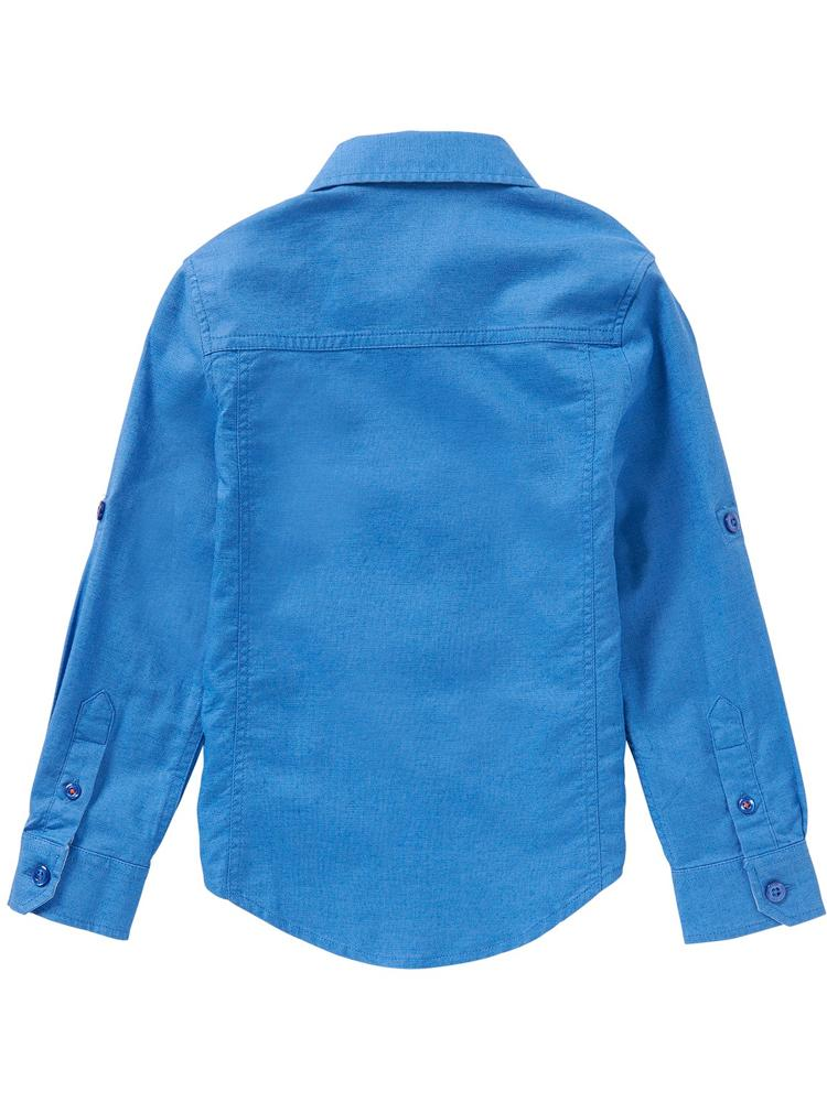 HUGO BOSS - Boys Blue Buttoned Detail Shirt - Stylemykid.com