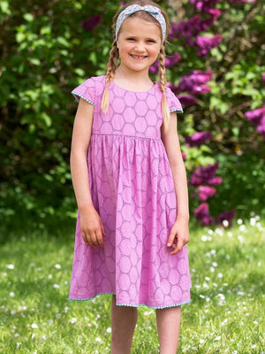 KITE Organic - Girls Violet Broderie Anglaise Dress - Stylemykid.com