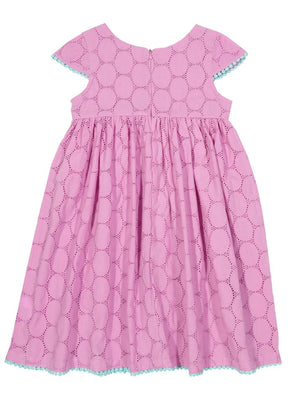 KITE Girls Pink Broderie Anglaise dress - Stylemykid.com