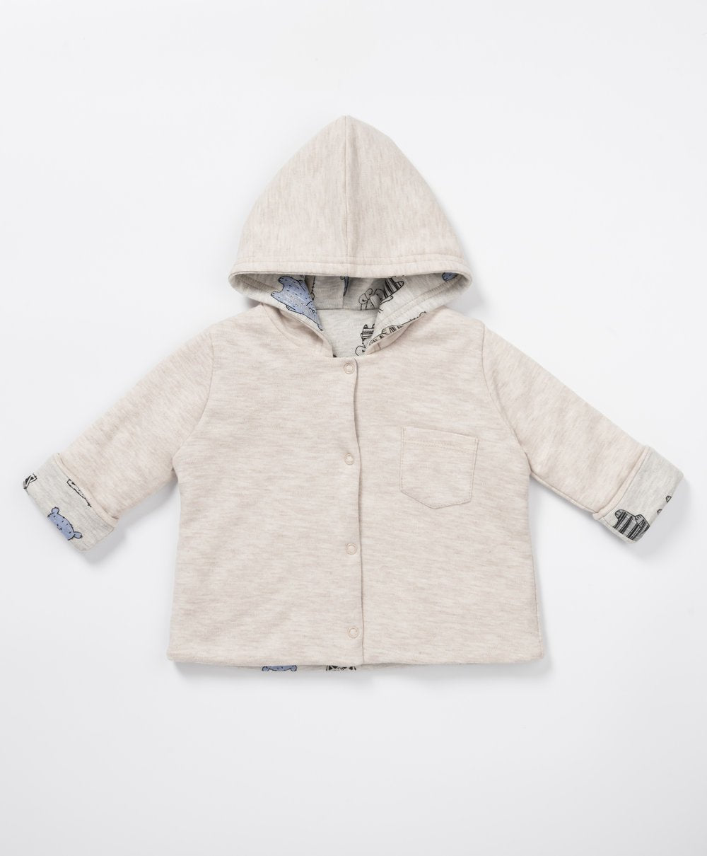 Baby Blue Bear - White Baby Coat - Stylemykid.com