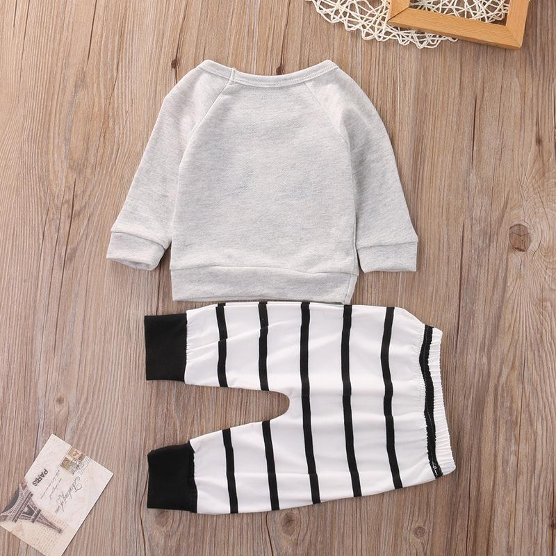 Sweet Little Panda Black and White top and bottoms set - Unisex 6 to 12 months - Stylemykid.com