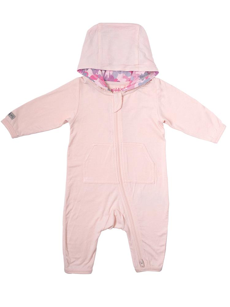Juddlies - Camoose Bamboo Hooded Jumpsuit - Pink - Stylemykid.com