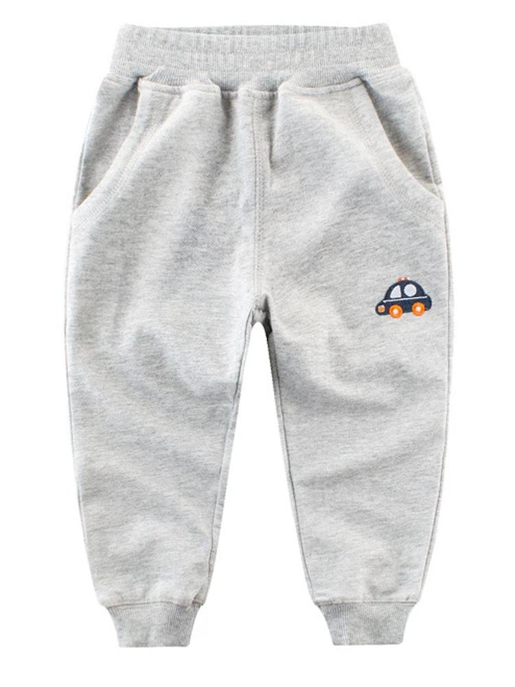 Car Joggers Grey Boys Tracksuit Bottoms - Stylemykid.com