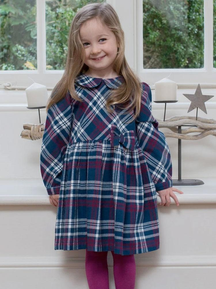 KITE Check Organic Party Dress - Stylemykid.com