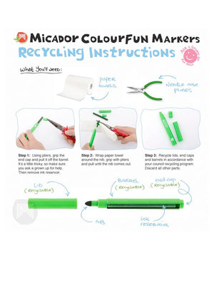 Micador jR. - Colourfun Recyclable Markers - Box of 12 - Stylemykid.com