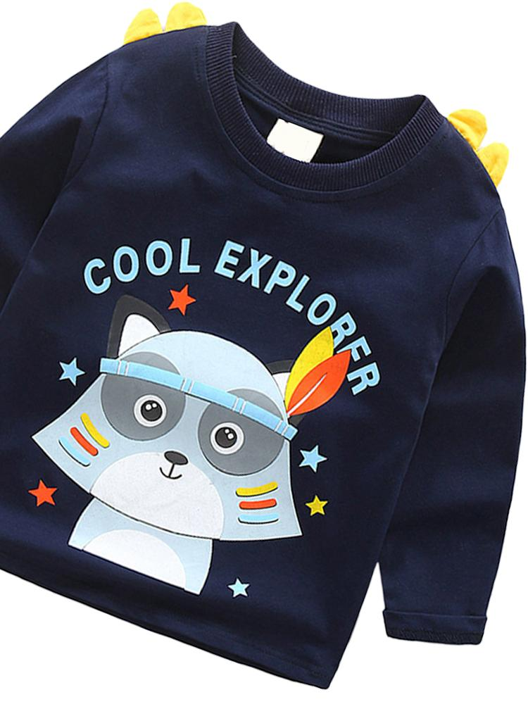 Spikes Out - Cool Explorer Boys/ Girls Navy Blue Sweatshirt - Stylemykid.com