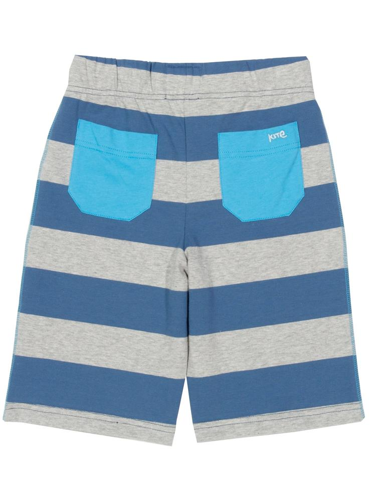 KITE Blue and Grey Striped Corfe shorts - Stylemykid.com