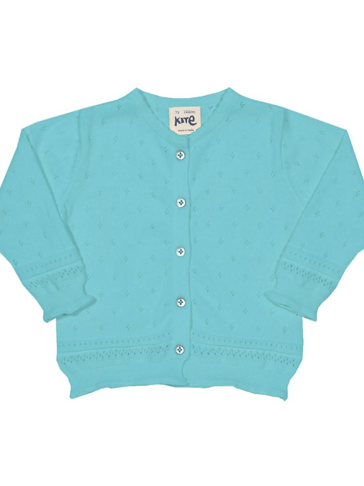 KITE Organic - Aqua Blue Cove Girls Cardigan - Stylemykid.com