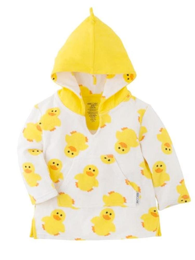 Zoocchini - Terry Bath & Swim Cover up with Character 3D Hood - Puddles the Duck - Stylemykid.com